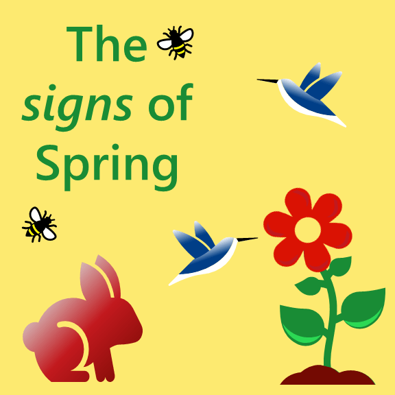 signs of Spring  English vocabulary
