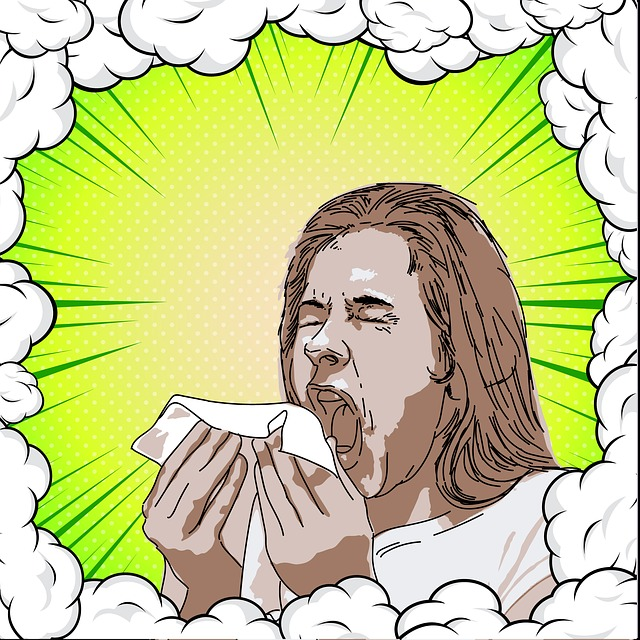 sneezing due to common cold