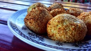 Perfectly crisp oven baked papa rellena (Peruvian stuffed potatoes)