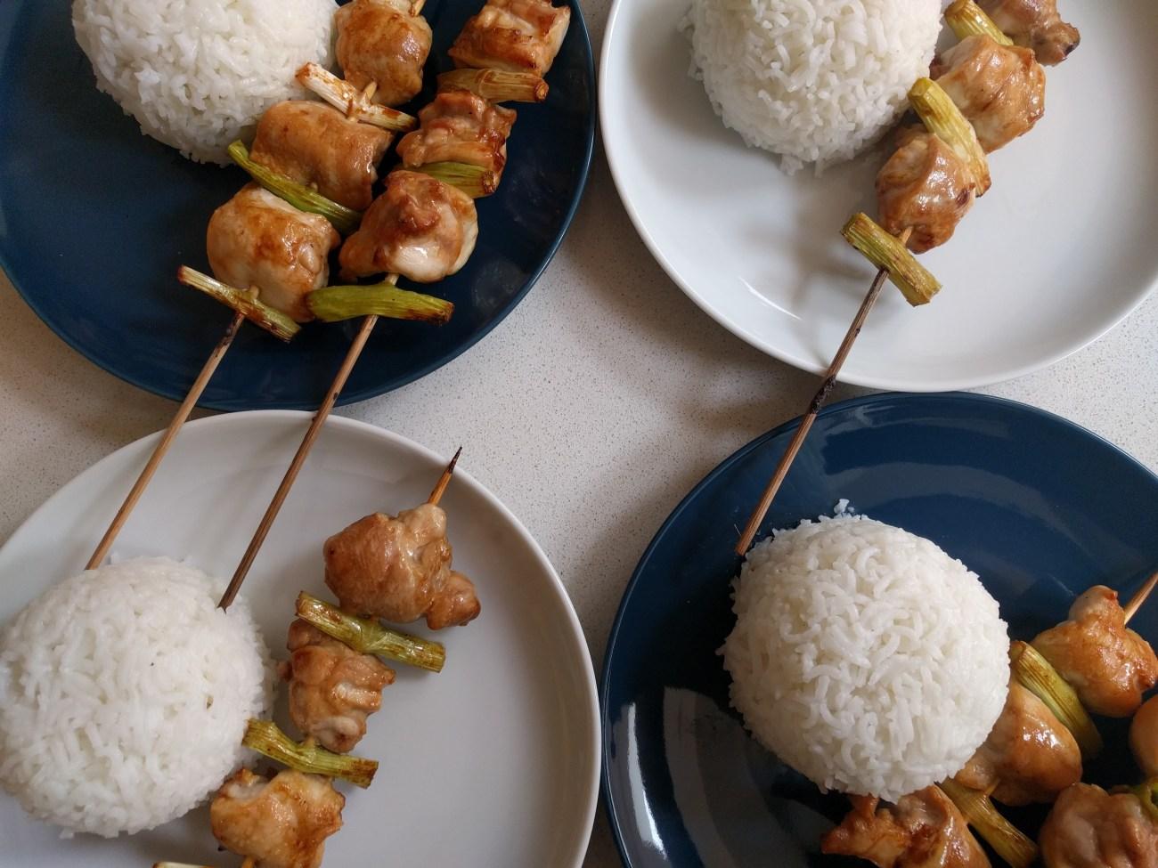 Chicken and Spring Onion Yakitori