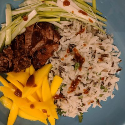 Hoisin Duck Mango And Wild Rice Bowls