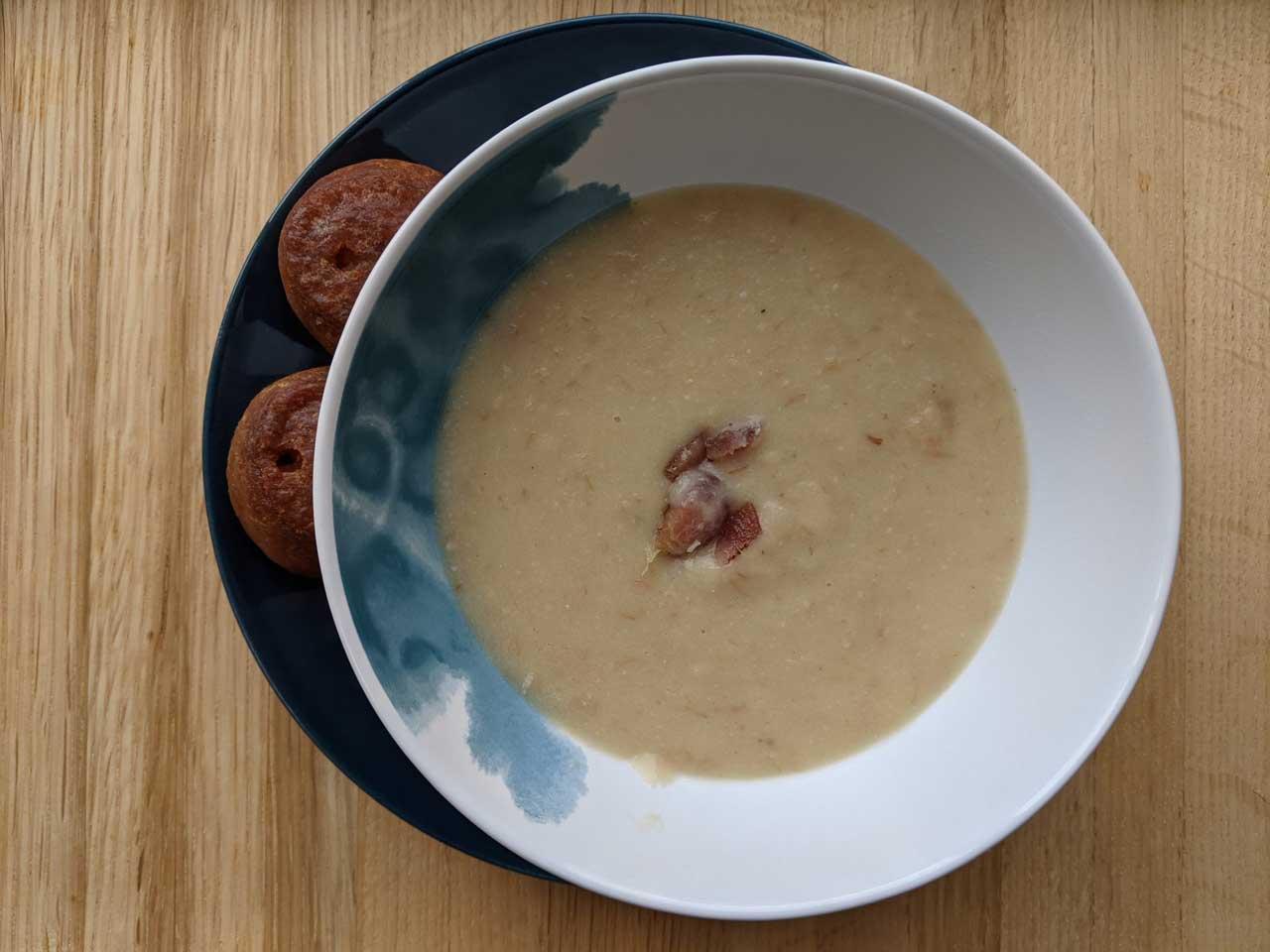Leek, Potato and Bacon Soup