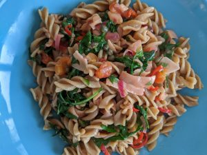 Smoked Salmon Pasta with Chilli and Rocket