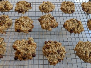 Banana and Oat Chocolate Chip Cookies