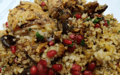 Chicken with Pomegranate and Walnuts