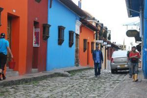 Along a street near Bogota, Colombia