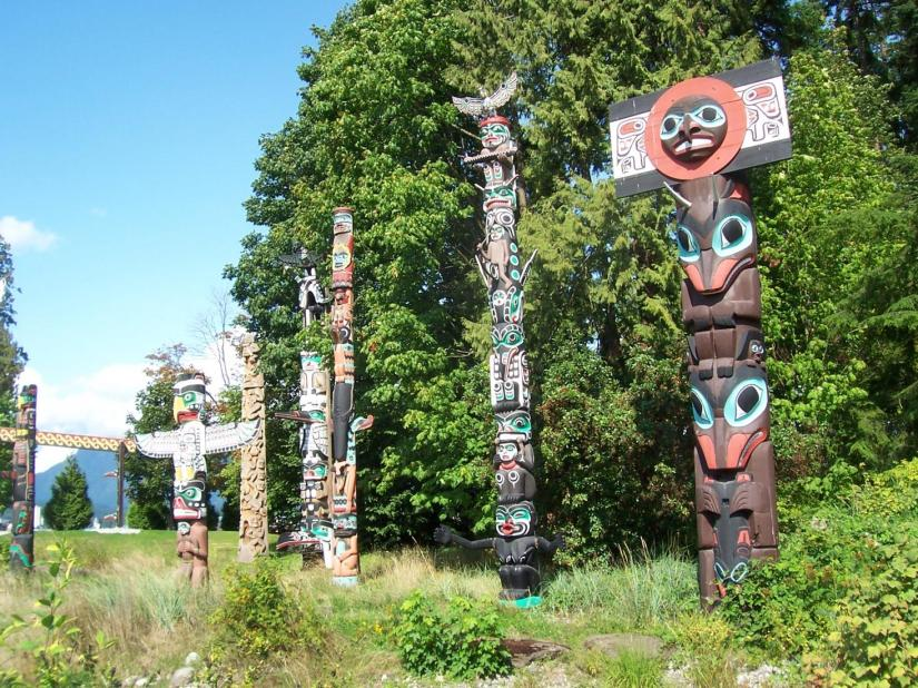 Totem Poles of the First Nations in Vancouver, Canada.JPG
