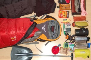 Camping gear for light snow.