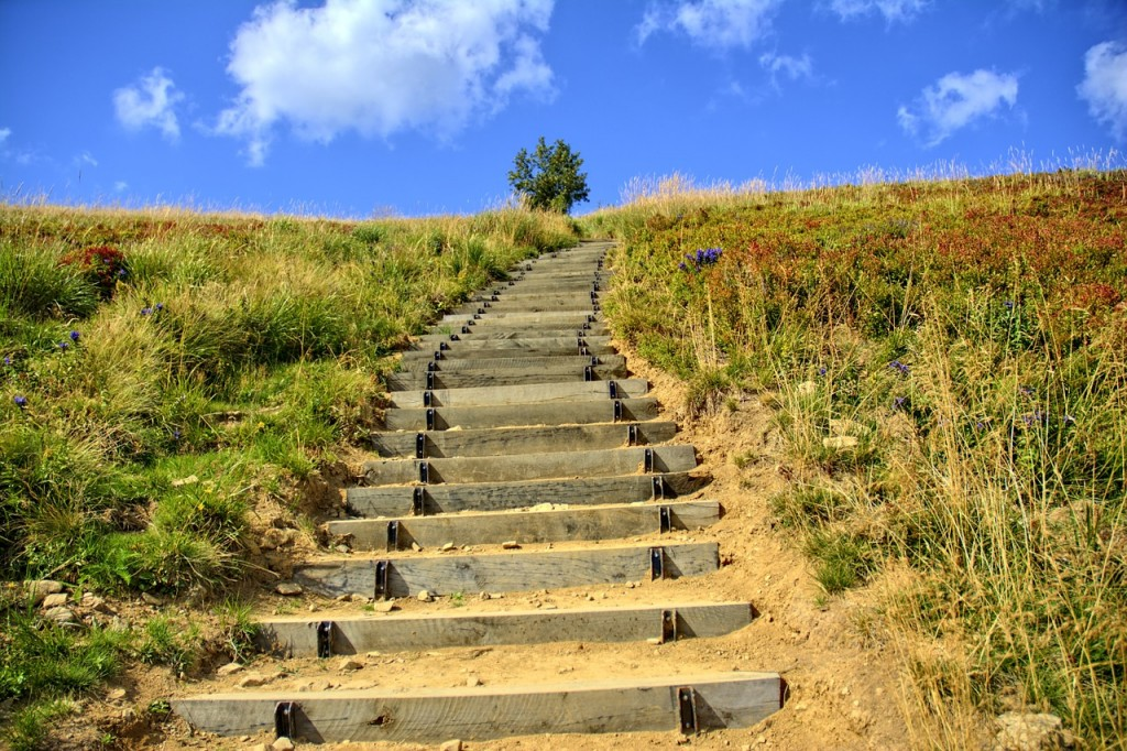 Mountain stairs