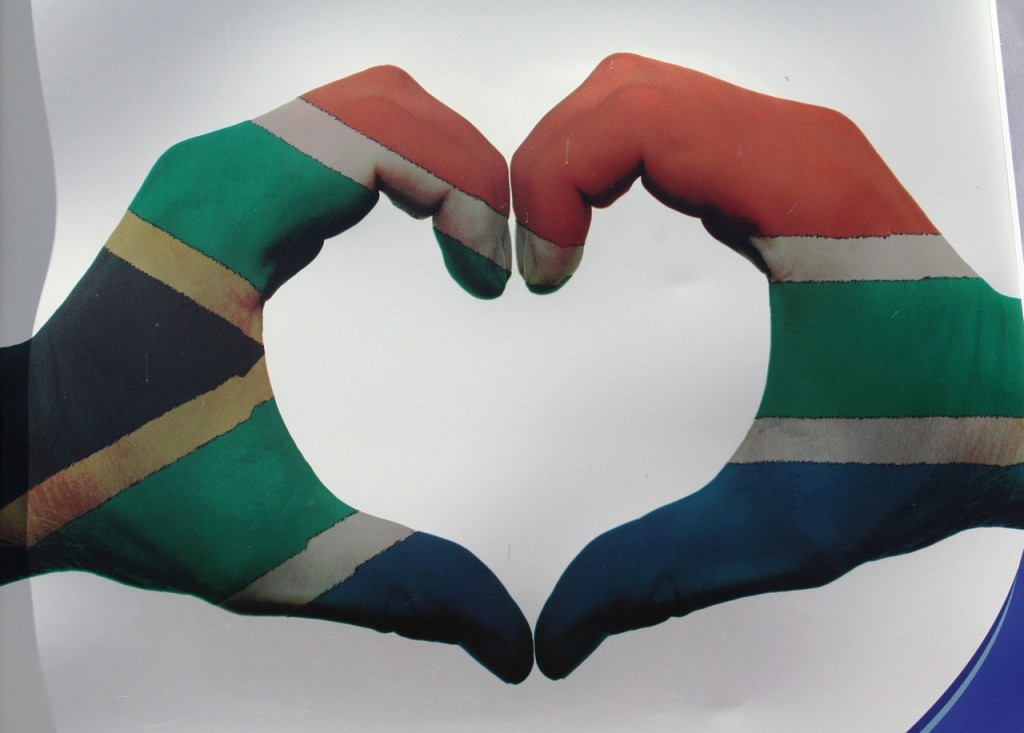 South African flag heart