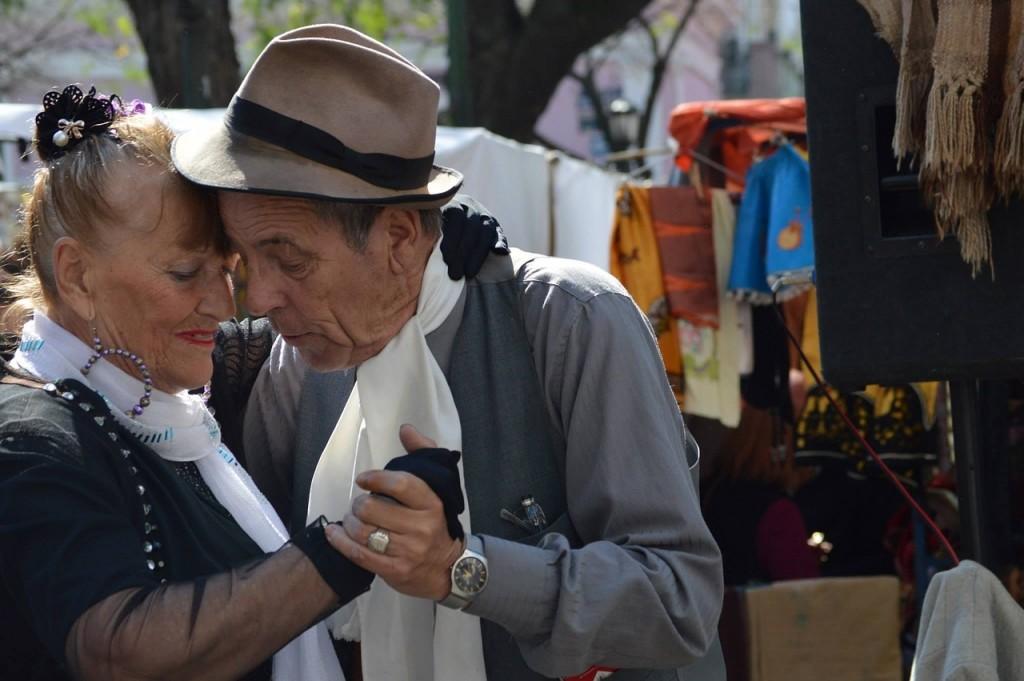 Doing the tango.