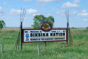 Entering the Siksika reservation