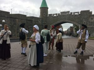New France group in period costumes