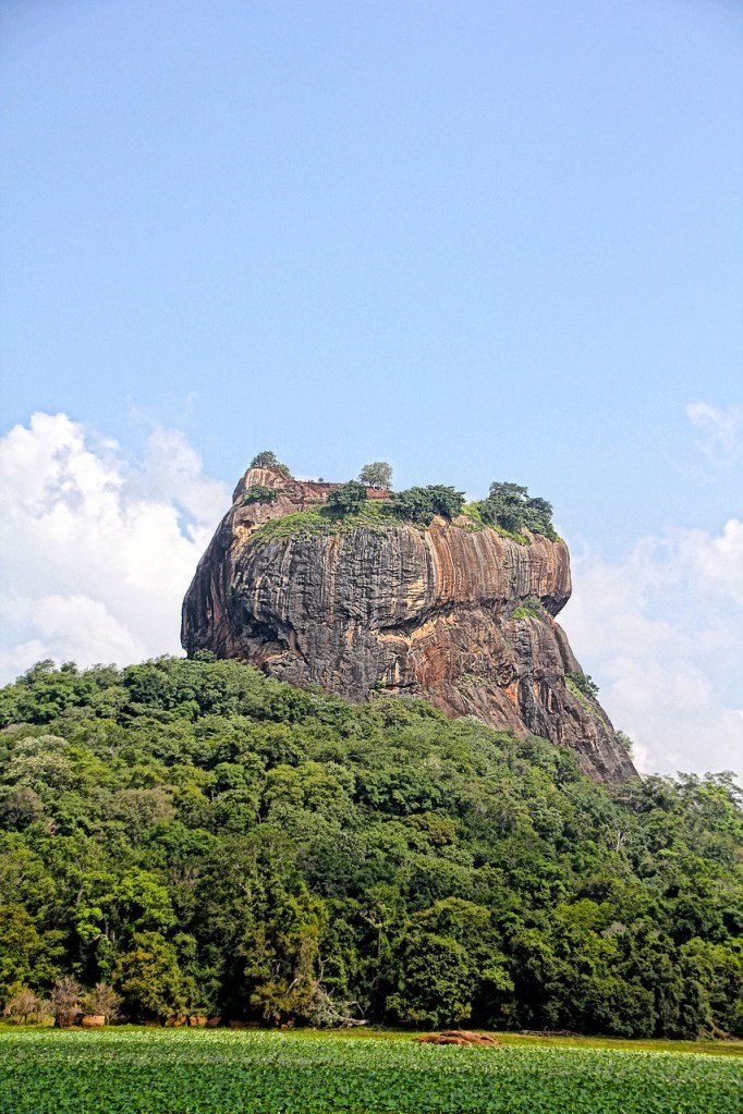 View of Lion's Rock, Sri Lanka