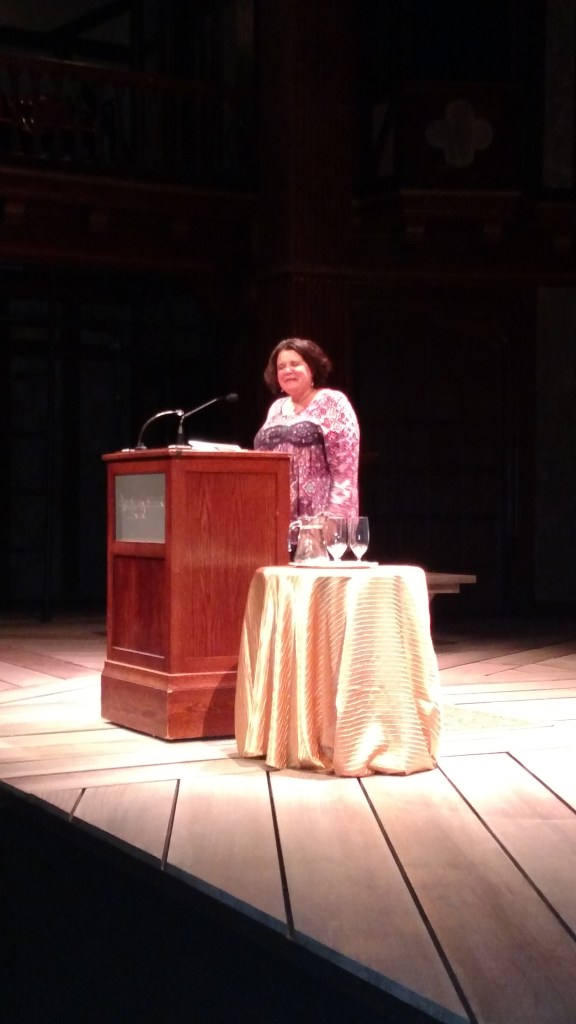 Brenda Cardenas reading at the Folger. Photo: Daniel Baldwin