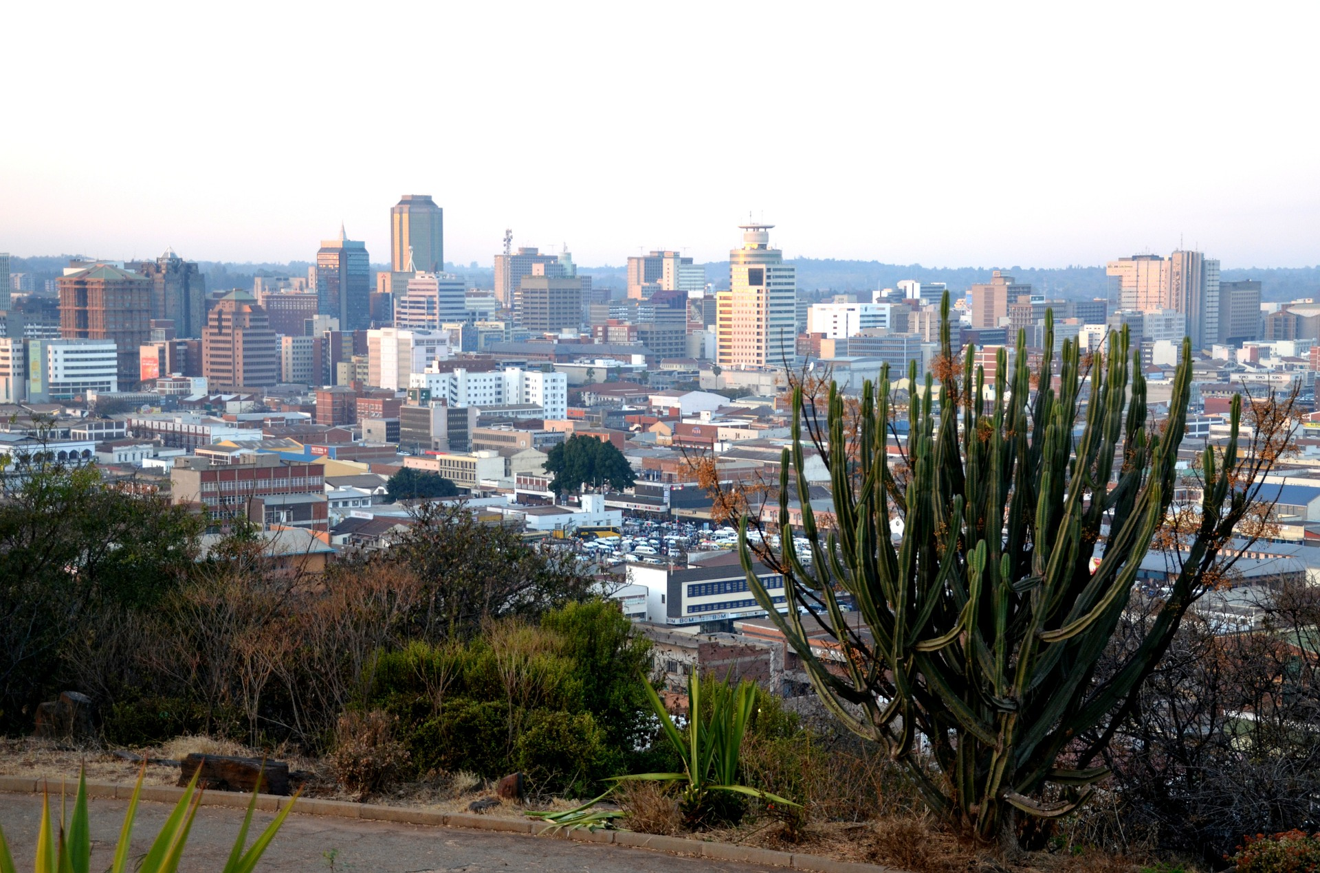 Zimbabwe's capital city of Harare.