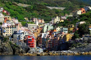Beautiful colored homes dots the landscape in Cinque Terre.