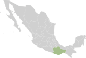 Map showing where Oaxaca is located in Mexico