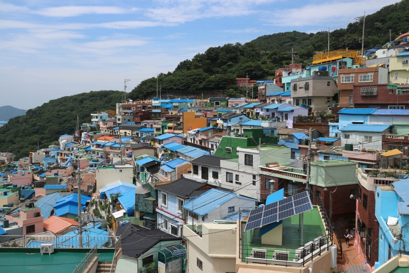 Overview of the South Korean port city of Busan.