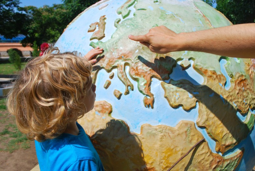 Teaching a child about the world