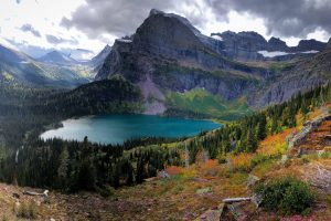 Grinnell Lake from Grinnell Glacier Trail. Photo: Ali Wunderman