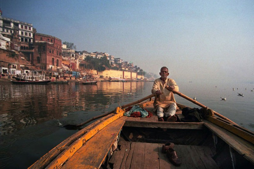 A slow boat ride in the Ganga is lovely in the mellow morning light. Photo: Sugato Mukherjee
