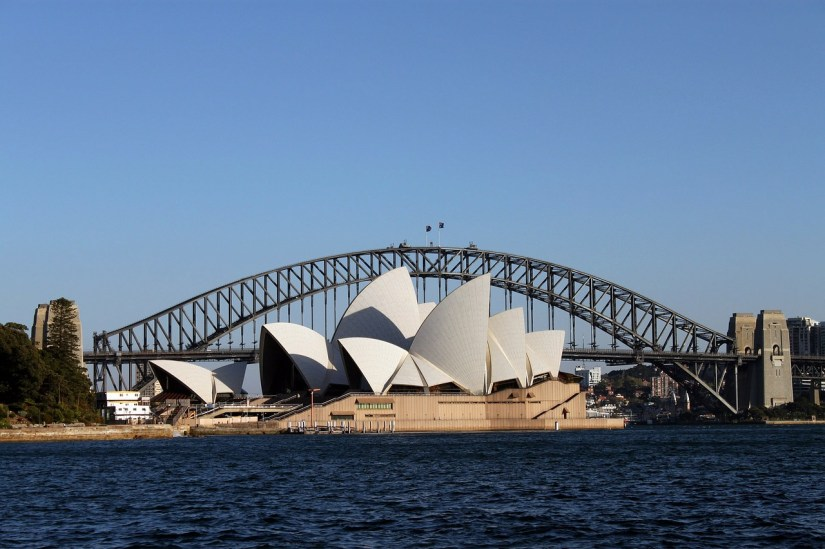 Sydney Opera House in Sydney Harbor