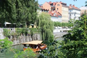 Riverwalk in Ljubljana. Photo by Trixie Pacis