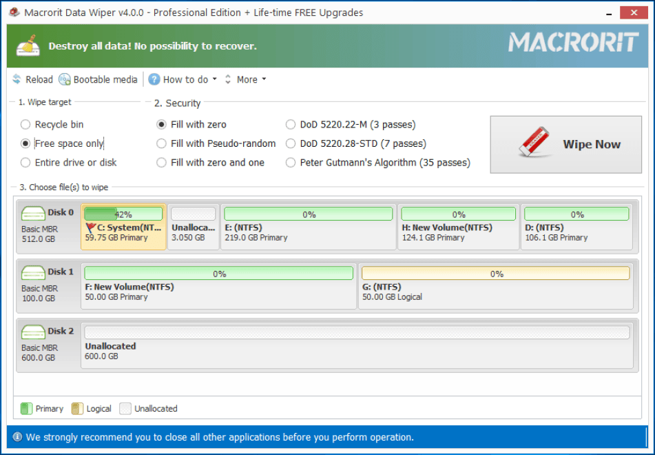 Macrorit Data Wiper 4.2.0 Unlimited Edition Free DownloadMacrorit Data Wiper 4.2.0 Unlimited Edition Free Download