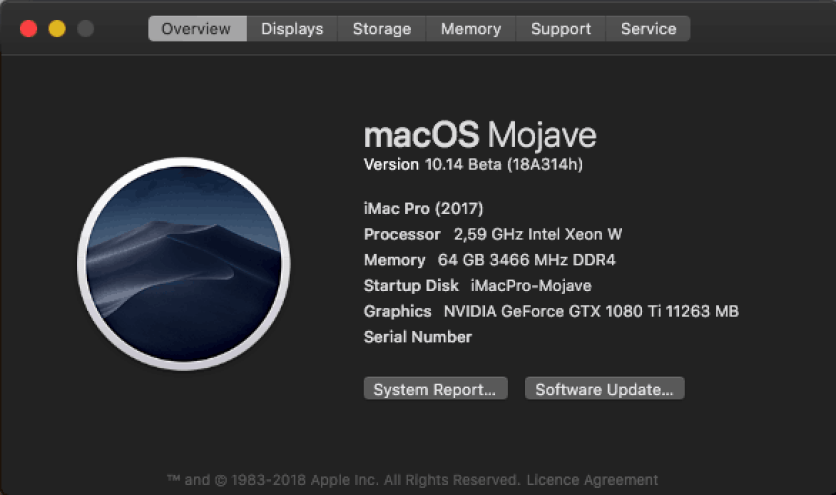 Mac OS Mojave 10.14.b3 (18A326g) Free Download For Mac OSX