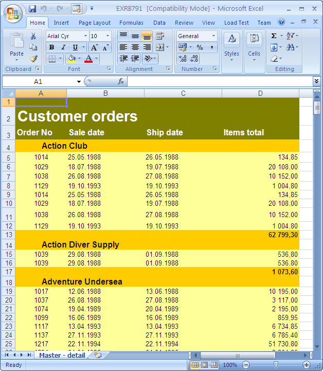 EMS Advanced Excel Report Free Download