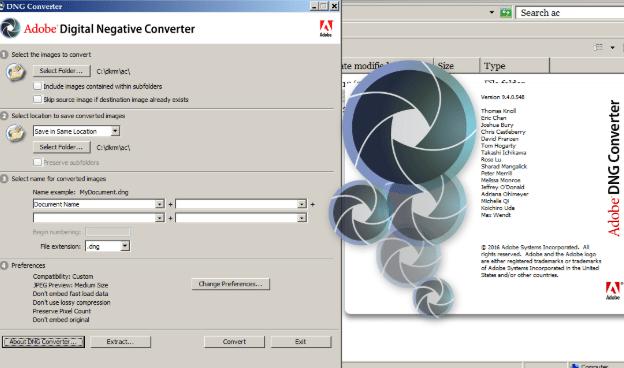 Adobe DNG Converter 11 free download