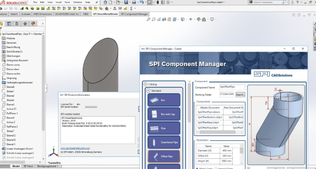 SPI SheetMetal Inventor 2019 for Solidworks free download