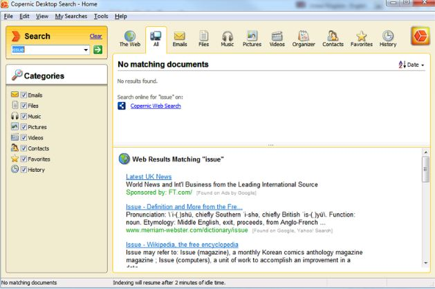 Copernic Desktop Search 7