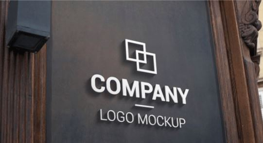 3d logo mockup on dark outer surface. branding, logo design promotion Premium Psd Free Download