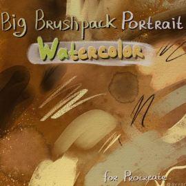 Portrait Watercolor Big BrushPack for Procreate by AvvArt (Premium Members