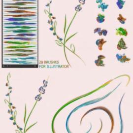 CreativeMarket Nature Brushes for Illustrator 3592451 Free Download