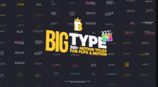Videohive Big Type 300 titles for Final Cut Pro