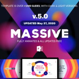 Massive X Presentation Template v.5.0 Fully Animated (Premium)