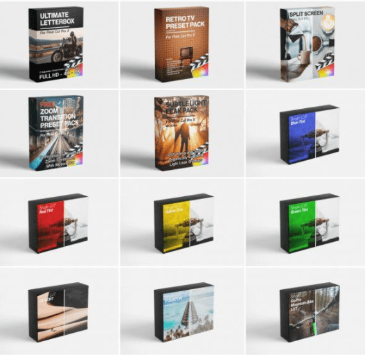 FCPX FULL ACCESS Ultimate Bundle (Includes ALL FCPX Plugins, LUTS)