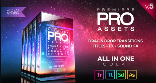 Videohive Premiere PRO Pack Transitions Titles Sound FX