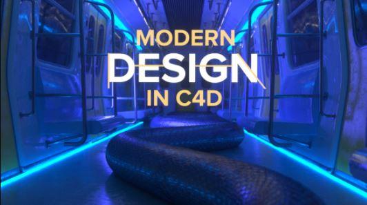 Motion Design School Modern Design in Cinema 4D