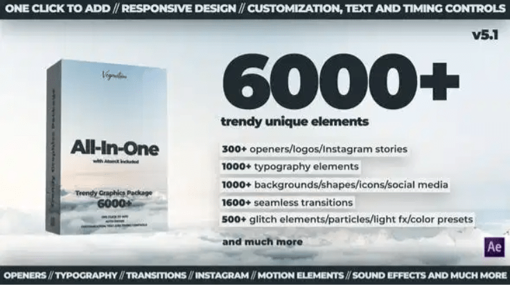 AtomX 6000+ All-In-One Motion Graphics Pack V5.1 24321544