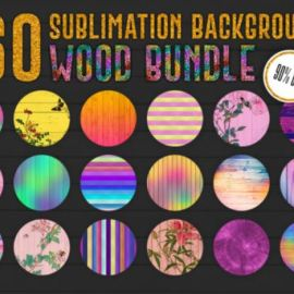 160 Sublimation Backgrounds BUNDLE 11425918 [Vector] [Abstract & Floral Background]