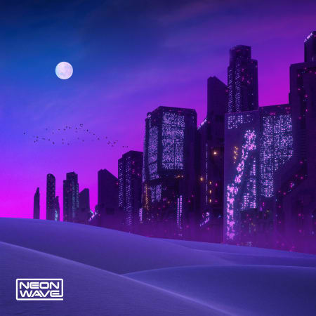 Neon Wave Digital Dystopia Cinematic Synthwave