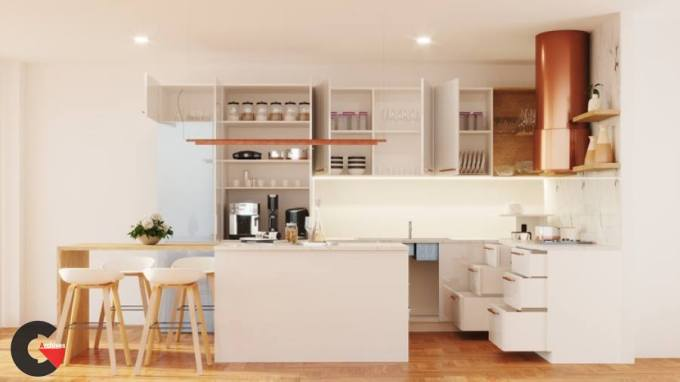 The Complete Vray 5 for Sketchup Course for Kitchen Design