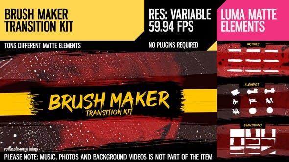 Videohive Brush Maker (Transition Kit) 26646724 free download