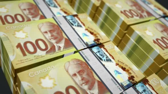 Videohive Canadian Dollar Money Counting Seamless Loop 33527860 Free Download