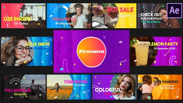 Videohive Colorful Modern Slideshow 33449079 Free Download