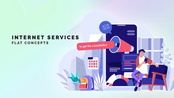Videohive Internet Services Flat Concept 33559878 Free Download